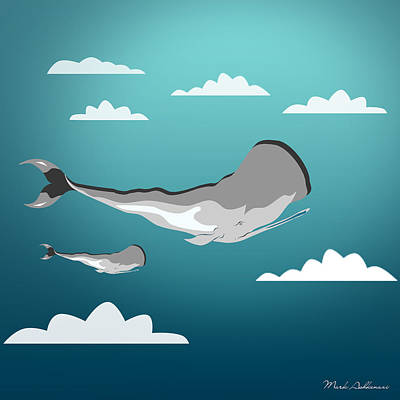 Whale 7 Art Print by Mark Ashkenazi