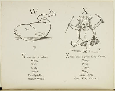 Whale And King Xerxes Art Print by British Library