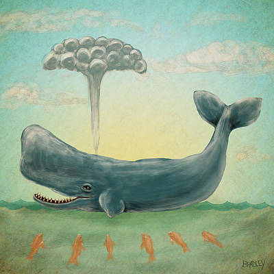 Whale Painting - Whale by Diane Bradley