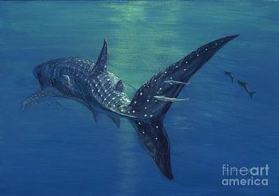 Sharks Painting - Whale Shark by Tom Blodgett Jr