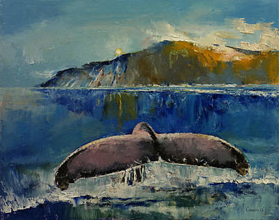 Mike Painting - Whale Song by Michael Creese