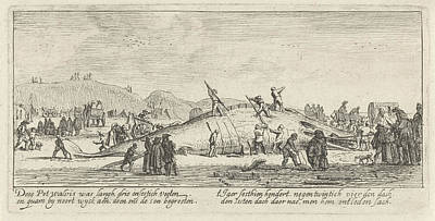 Dead Heads Drawing - Whale Stranded In Noordwijk, The Netherlands 1629 by Litz Collection