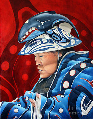 Pictograph Painting - Whale Woman by Joey Nash