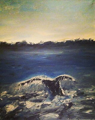 Jessica Sanders Painting - Whale Wonder by Jessica Sanders