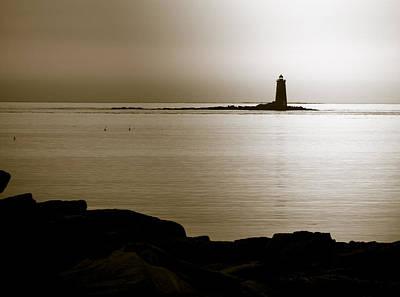 Whaleback Ledge Lighthouse Original by Sherry Boylan