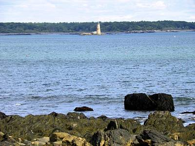 Photograph - Whaleback Light by Gene Cyr