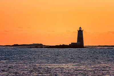 Photograph - Whaleback Light by Jeff Sinon