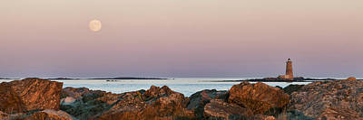 Whaleback Lighthouse Panorama Art Print by Eric Gendron