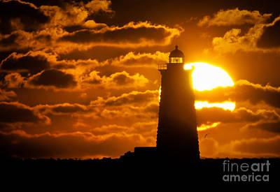 Nubble Light Photograph - Whaleback Lighthouse Sunrise by Scott Thorp