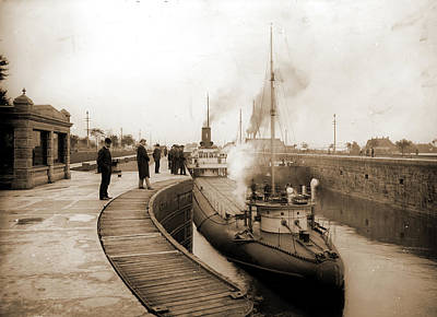 Sault Ste Marie Drawing - Whaleback Str. Pathfinder In The Locks by Litz Collection