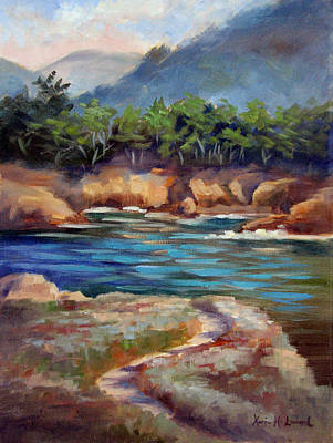 Point Lobos Painting - Whalers Cove Point Lobos by Karin  Leonard