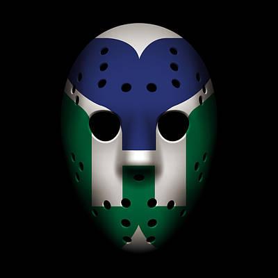 Whalers Goalie Mask Art Print by Joe Hamilton