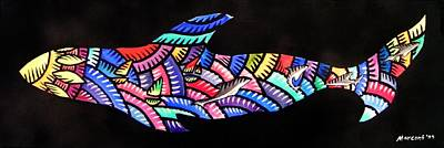 Painting - Whales Sf by Marconi Calindas