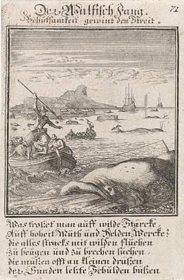 Whaling Drawing - Whaling, Caspar Luyken, Anonymous by Caspar Luyken And Anonymous