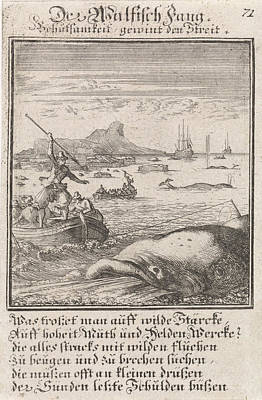 Whaling Drawing - Whaling, Caspar Luyken, Anonymous by Quint Lox