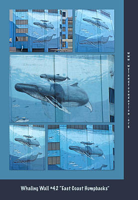 Wyland Photograph - Whaling Wall 42 -  East Coast Humpbacks - Original Painting By Wyland by Mother Nature