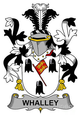 Whalley Coat Of Arms Irish Art Print by Heraldry