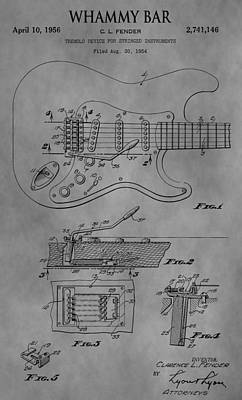Guitar Drawing - Whammy Bar by Dan Sproul