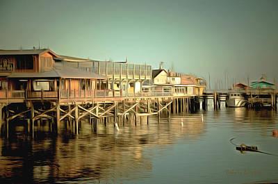 Monterey Wharf Painting - Fishermans Wharf Monterey California by Barbara Snyder
