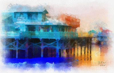 Wharf Color Art Print by Barbara R MacPhail