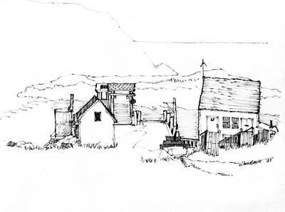 Wharf Monhegan Island 1987 Art Print