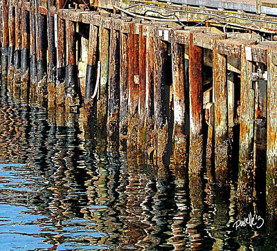 Wharf Reflections Art Print