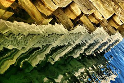 Brown Tones Photograph - Wharf Reflections by Nikolyn McDonald