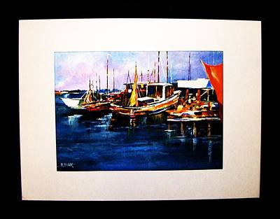 Painting - Wharf Scene by Al Brown
