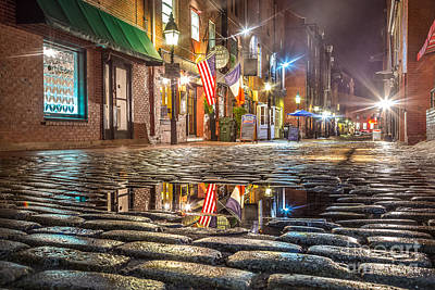 Photograph - Wharf Street Puddle by Benjamin Williamson