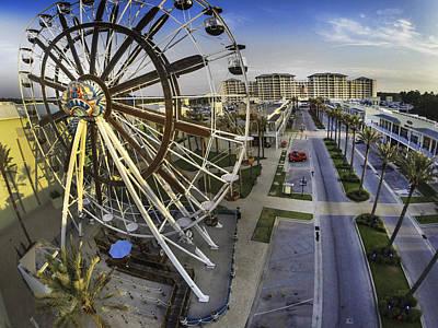 Digital Art - Wharf Wheel And Main Street by Michael Thomas