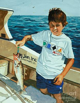 Painting - What A Catch by Barbara Jewell