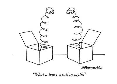 What A Lousy Creation Myth! Art Print