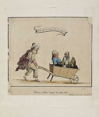 Business Cartoons Photograph - What A Man Buys He May Sell by British Library