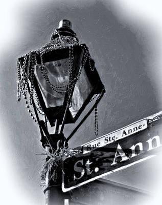 Mardi Gras Photograph - What A Party Oil Monochrome by Steve Harrington