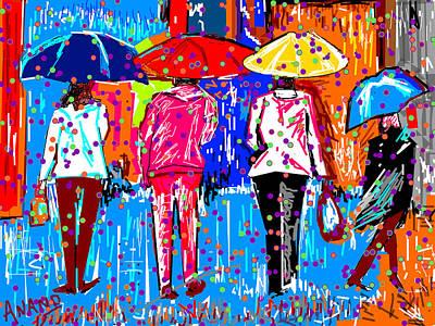 Life Study . Ganesha Digital Art - What A Rain by Anand Swaroop Manchiraju