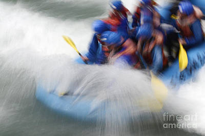 White Water Rafting What A Rush Art Print by Bob Christopher
