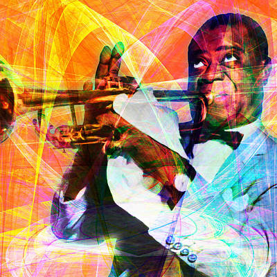 Trumpet Digital Art - What A Wonderful World Louis Armstrong 20141218 Square by Wingsdomain Art and Photography