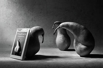 Pear Wall Art - Photograph - What Are You Reading, Son?! by Artistname