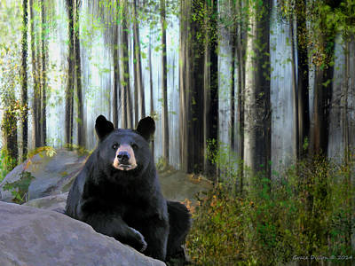 Digital Art - What Bears Do In The Woods by Grace Dillon