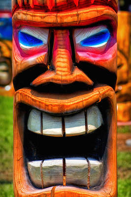 Photograph - What Big Teeth You Have Totem by Bill Swartwout