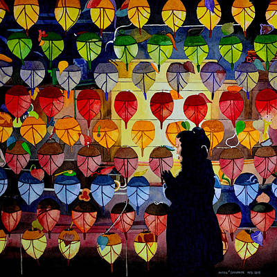 Painting - What Colors Are Your Rice Paper Lanterns by Andre Salvador