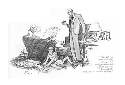 Philosophical Drawing - What Did You Learn At Sunday School by Alice Harvey