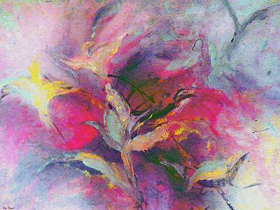Colorful Painting - What Do You See by Lisa Kaiser
