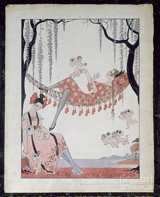 What Do Young Women Dream Of? Art Print by Georges Barbier