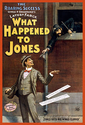 Flyer Drawing - What Happened To Jones by Aged Pixel