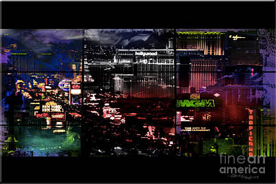 Christine Mixed Media - What Happens In Vegas... by Christine Mayfield
