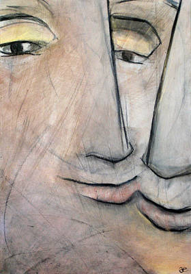 Painting - What Is The Space Between Two People 3 by Anna Elkins