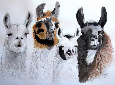 Llama Painting - What Is Up by Joette Snyder