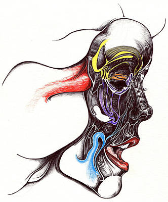 Colored Pencil Abstract Drawing - What Is Vibrance by Michael Paul Gavazzi