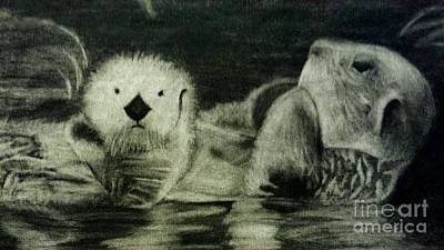 Otter Drawing - What? by Kimberly Ekes